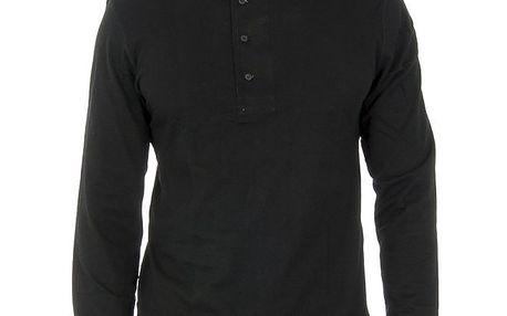 Pánské černé triko s dlouhými rukávy Ralph Lauren