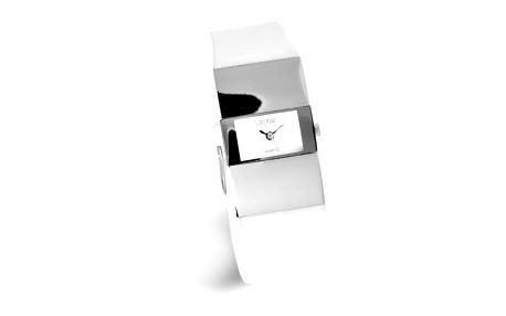 Dámské hodinky Sinobi bílé hranatý ciferník