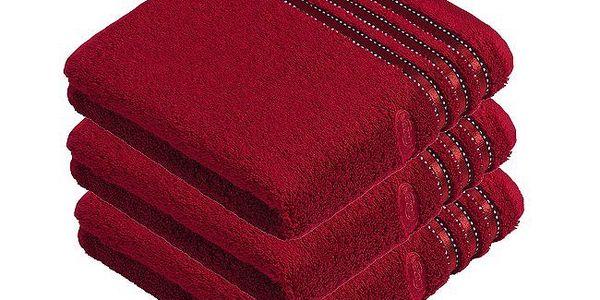 Ručník Cult de Luxe, sada 3 kusů, Vossen, tmavě červená