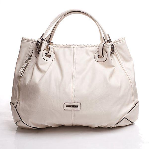Bílá kabelka s boční kapsou