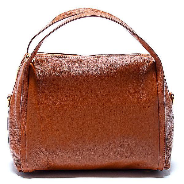Stylová kožená kabelka v koňakové barvě Renata Corsi