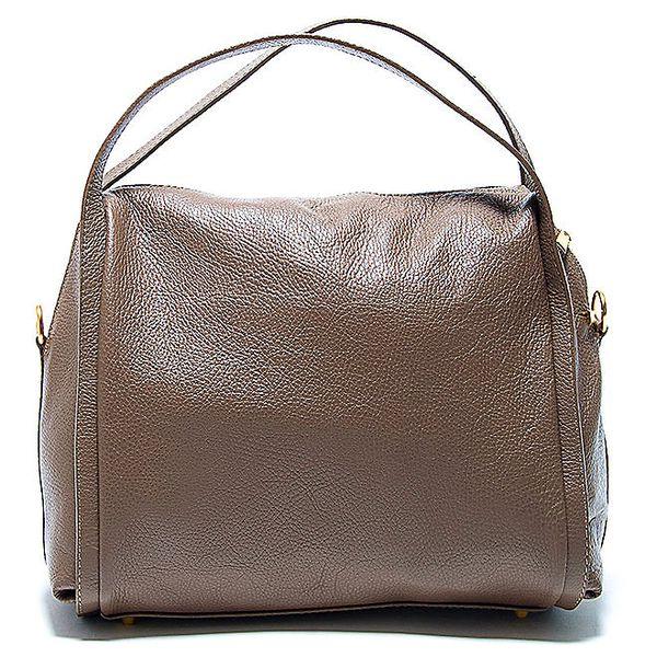 Stylová hnědá kožená kabelka Renata Corsi