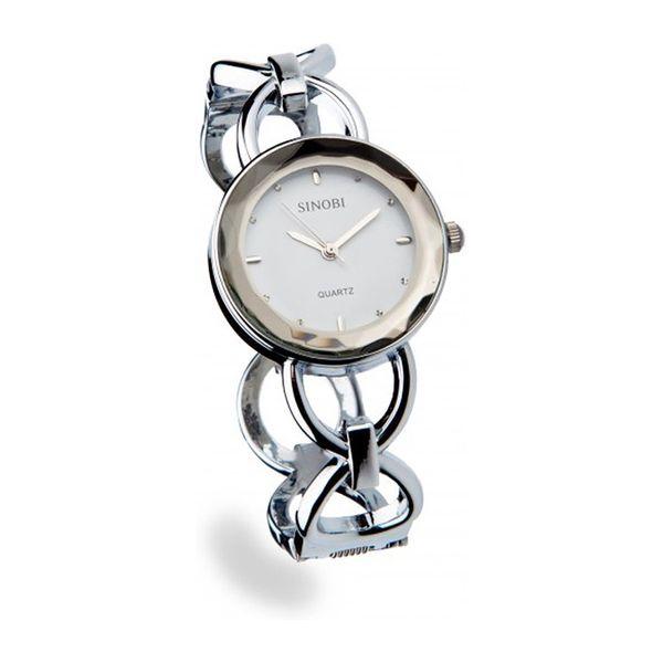 Dámské hodinky Sinobi stříbrné trendy řemínek