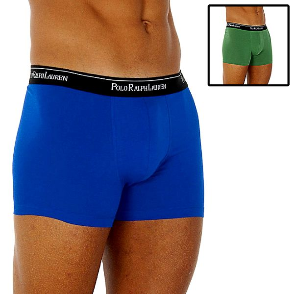 Sada dvou pánských boxerek Ralph Lauren - zelené a modré