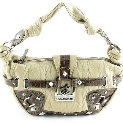 Dámská béžovo-hnědá kabelka Rocawear s kovovými detaily