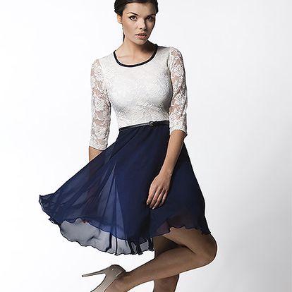 Modro-bílé šaty (Awama)
