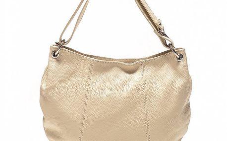Dámská béžová kabelka oválného tvaru Sonia Ricci