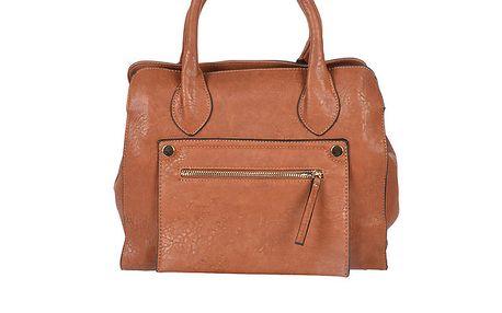 Dámská karamelová kabelka s vnější kapsou Marina Galanti