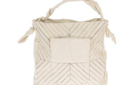Dámská světle béžová kožená kabelka s šikmým prošíváním Marina Galanti