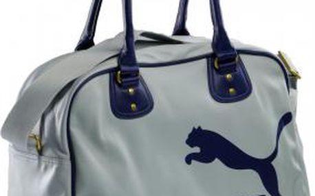 Puma ORIGINALS GRIP BAG šedá/modrá