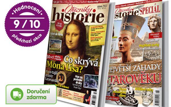 Předplatné časopisu Otazníky historie + bonusy