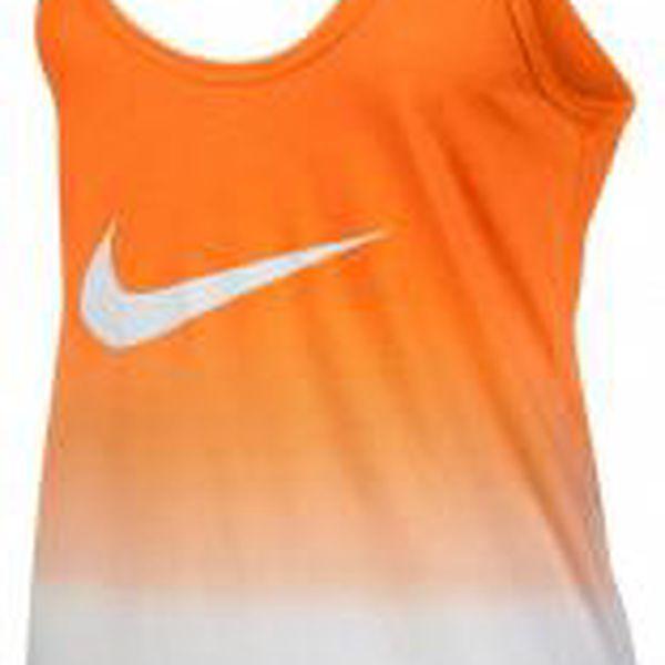 Nike DIP DYE SWOOSH LOOSE TANK oranžová XL