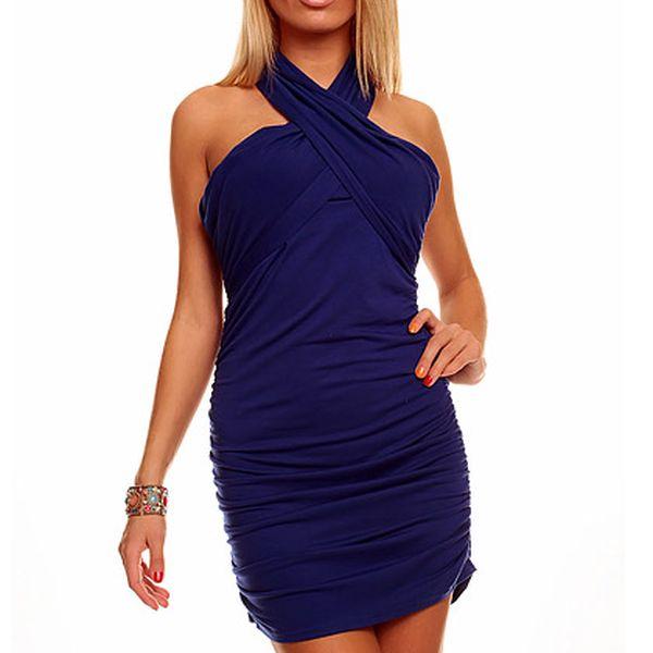 Tmavě modré šaty Mayaadi