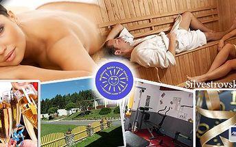 Silvestrovský wellness pobyt s infrasaunou, zábalem a masážína tři nebo pět dní pro jednu osobu ve Wellness relax areálu Hnačov