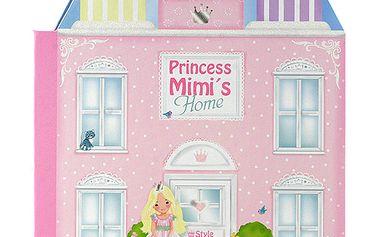 Výjimečné dětská knížka ukrývající komnanty princezny Mimi z kolekce My Style Princess, barva růžová.