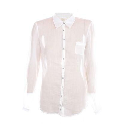 Dámská bílá košile s dlouhými rukávy Nougat London