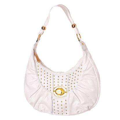 Dámská bílá kabelka Baby Phat se zlatými cvoky