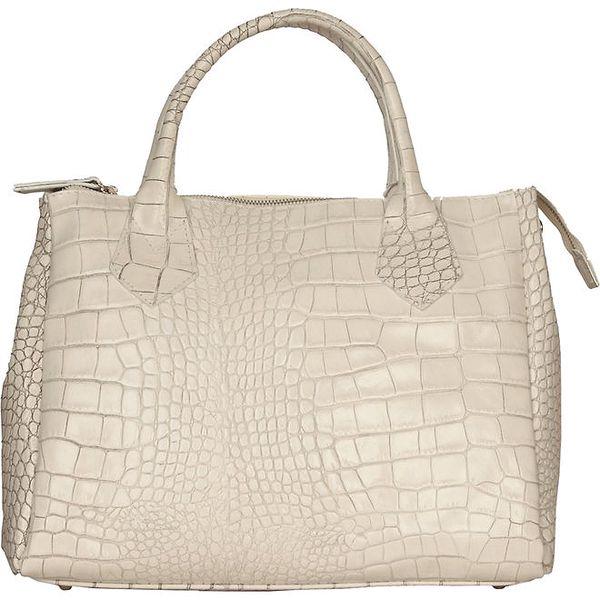 Dámská bílá kabelka Made in Italia s hadím vzorem