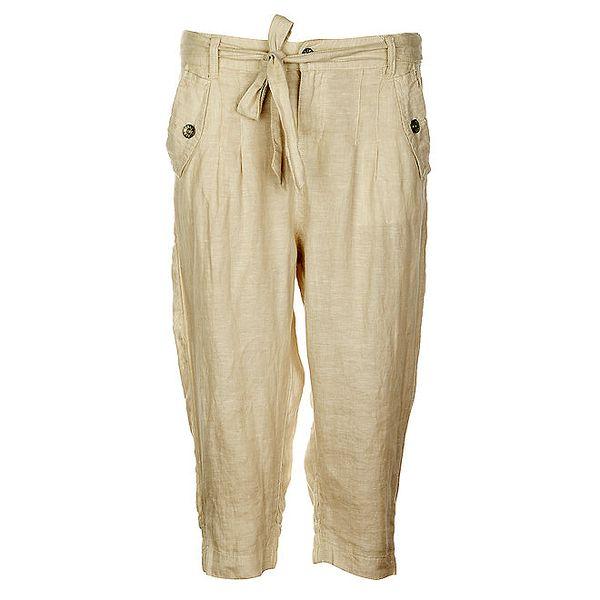 Dámské lněné kalhoty Timeout v barvě mocca
