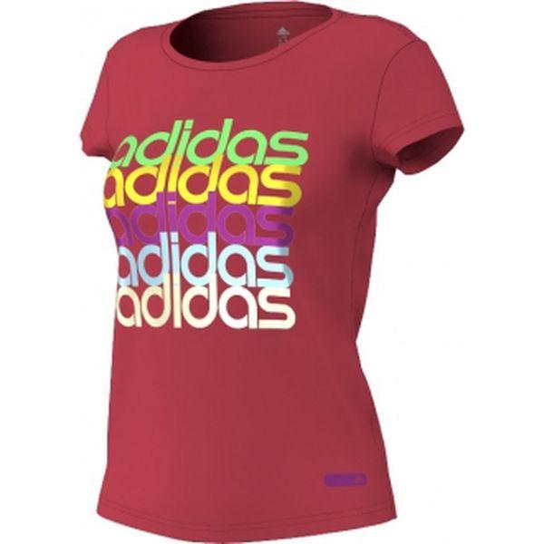 Dámské tričko - Adidas COL LINEAGE TEE červená na volný čas