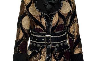 Dámský krátký černozlatý kabátek Savage Culture
