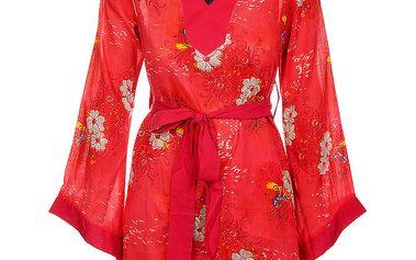 Dámské zářivě červené šaty s páskem od Savage Culture