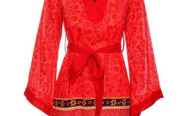 Dámské zářivě červené šaty s dekorem od Savage Culture