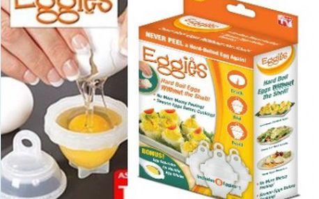 Revoluce ve vaření vajíček! Forma na vajíčka - šikovné nádobky na vaření vajíček. Už žádné skořápky po vajíčkách.