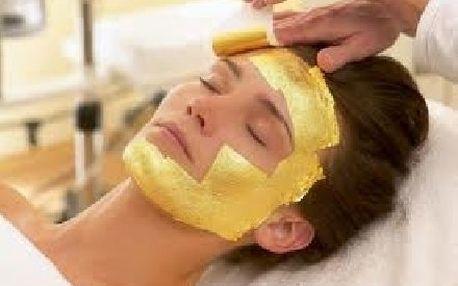 To nejluxusnější ošetření ZLATOU MASKOU z ryzího 24 karátového zlata, 90 minut přepychu pro váš obličej jen za 2499,-!