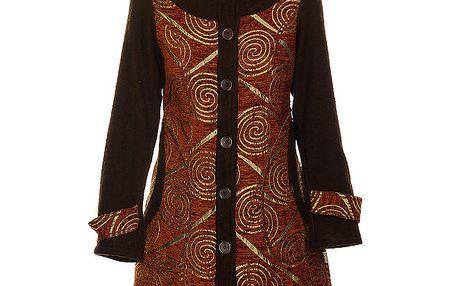 Dámský elegantní měděný kabát Savage Culture