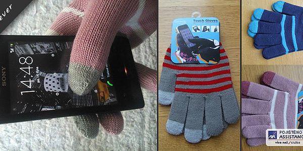 V zimě při ovládání svého telefonu či tabletu již nemusíte rukavice sundávat !!! Zimní rukavice s bílým proužkem pro dotykové telefony!