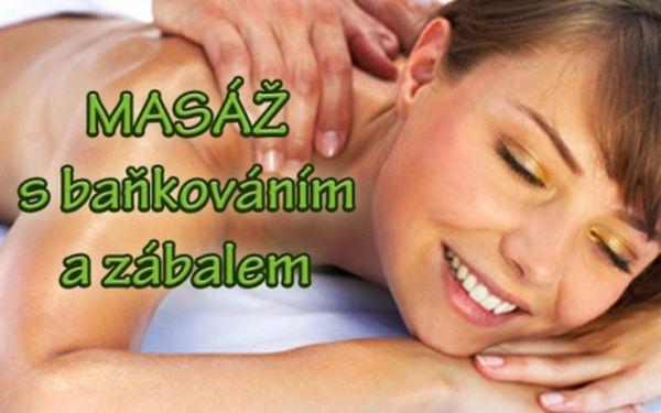 60 min. MASÁŽ ZAD a ŠÍJE + BAŇKOVÁNÍ + bahenní ZÁBAL z Mrtvého moře! Uvolněte si svaly a buďte zdravější a krásnější díky masáži od profesionálů studia Salonek Květ!