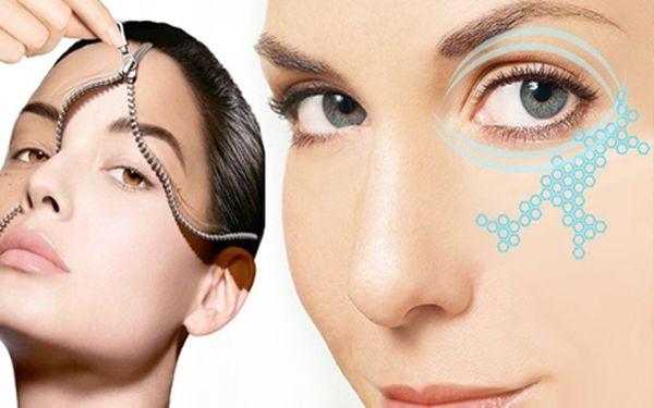 Neinvazivní omlazení očního okolí pomocí radiofrekvenčního ošetření s aplikací liftingového krému a výživnou pleťovou maskou