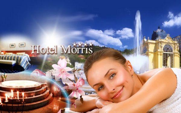 Luxusní hotel Morris**** Mariánské Lázně! WELLNESS pobyt na 3 dny včetně bohaté POLOPENZE, VÍŘIVKY, BAZÉNU a dalších PROCEDUR, jen za 4190 Kč pro dva! Sleva 65%! V ceně také GOLF trenažér a hole na Nordic walking!
