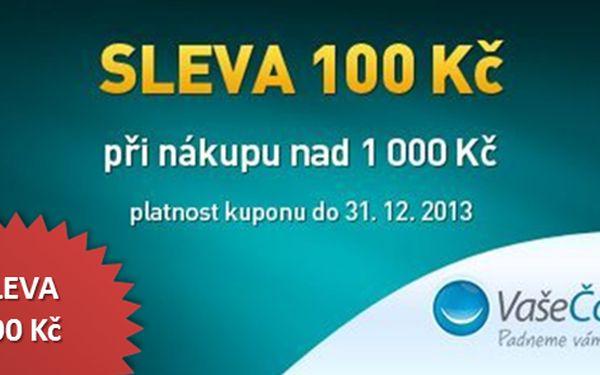 Sleva 100 Kč při nákupu nad 1 000 Kč pro nové zákazníky v e-shopu VašeČočky.cz