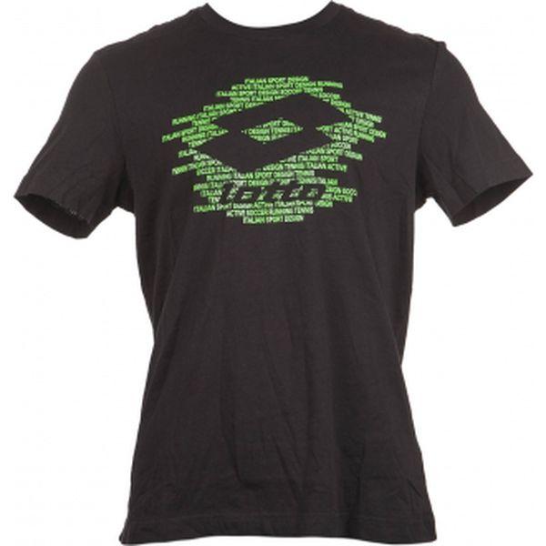 Pánské tričko - lotto t-shirt reed script černá