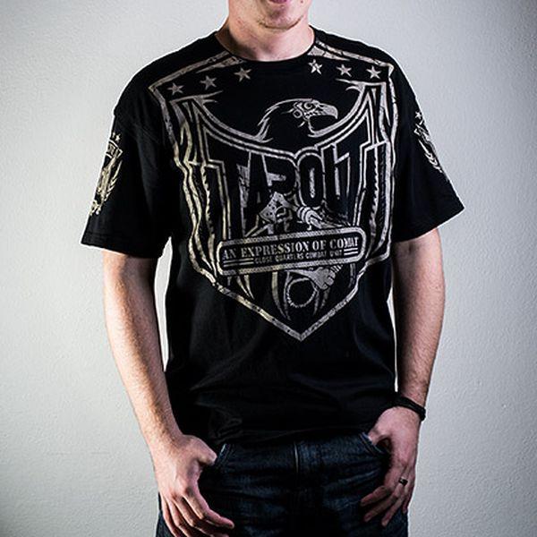 Bavlněné černé tričko Tapout Severed Tee