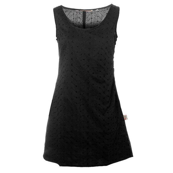 Dámské černé šaty Savage Garden s výšivkou