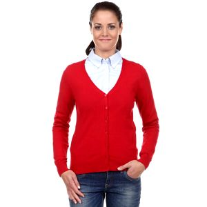 Elegantní dámský svetr s výstřihem ve tvaru V s.Oliver 1252_3185_308ca, červená
