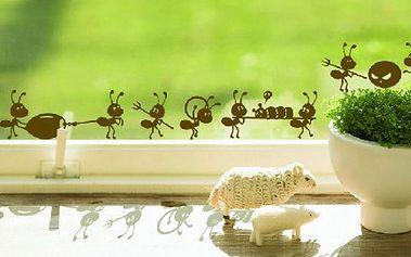 Samolepka na okno či zeď - mravenci a poštovné ZDARMA! - 35805871