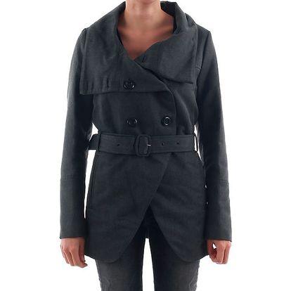Dámský šedý elegantní kabát Nolita