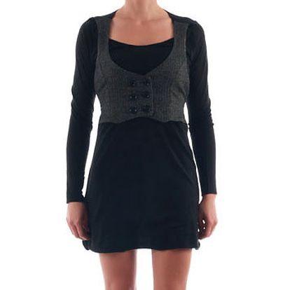 Dámské černé šaty s vestičkou Nolita