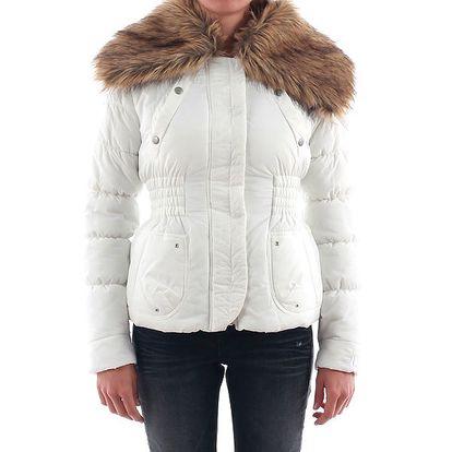 Dámská bílá bunda s kožíškem Nolita