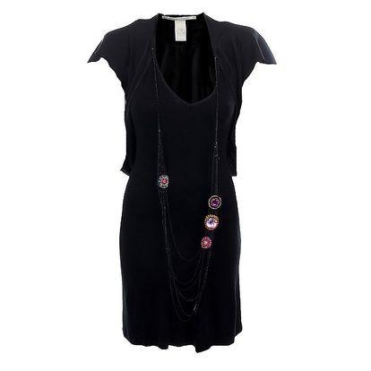 Dámské černé šaty s barevnými kameny Nolita