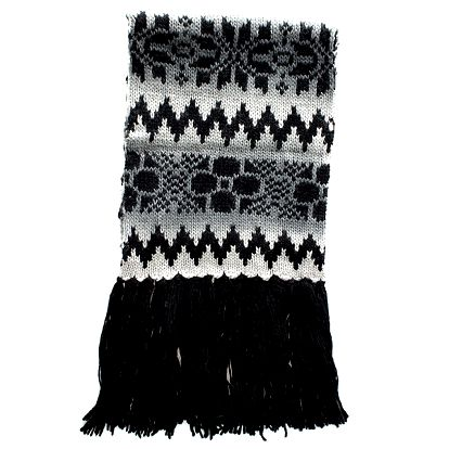 Dámská pletená šedo-černá šála Nolita