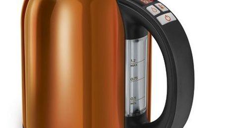 Rychlovarná konvice Sencor SWK 1273 OR v oranžové barvě a v elegantním designu