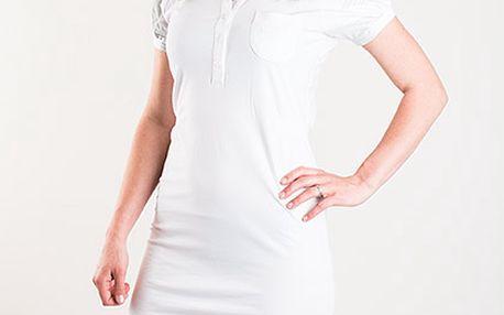 Sportovní bílé elastické šaty Reebok