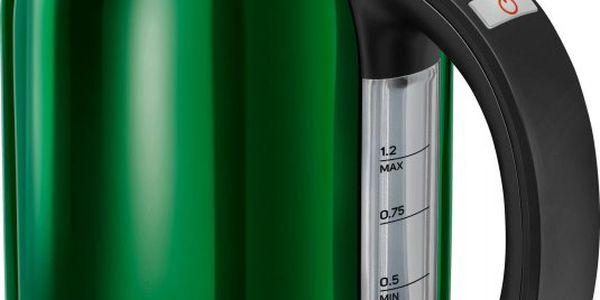 Rychlovarná konvice Sencor SWK 1271 GR v zelené barvě a v elegantním designu