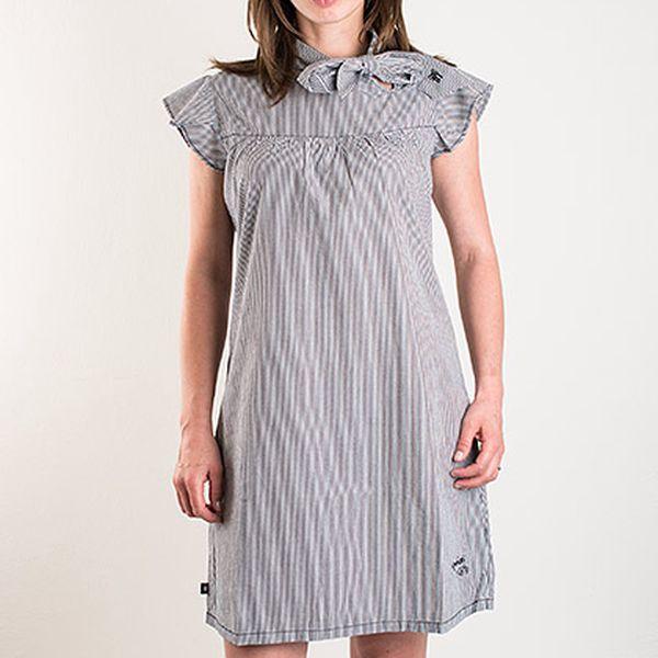 Černo-bílé pruhované šaty Fenchurch