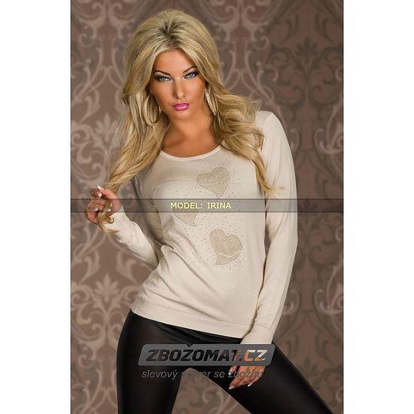 Elegantní svetr se srdíčkama